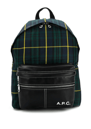 A.P.C. tartan Camden backpack - Blue
