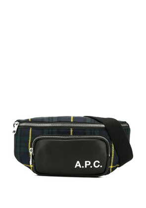 A.P.C. tartan belt bag - Blue