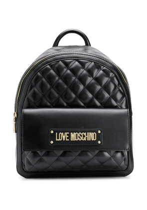 Love Moschino quilted backpack - Black
