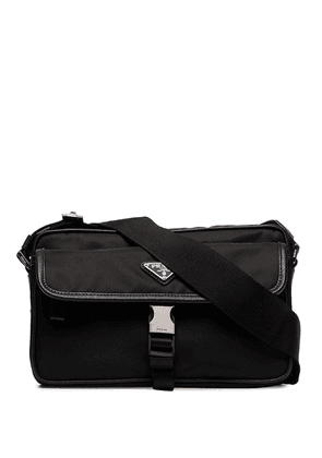 Prada logo plaque camera bag - Black