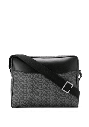 Canali logo print laptop bag - Grey