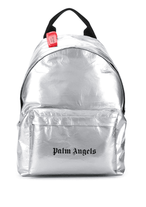 Palm Angels small metallic backpack - Silver