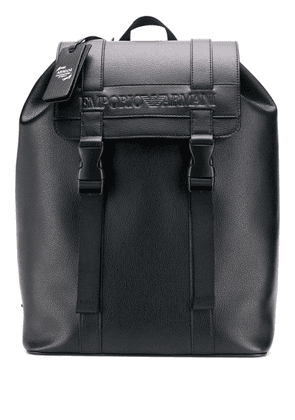 Emporio Armani logo backpack - Black