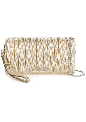 Miu Miu Matelassé cross-body bag - Metallic