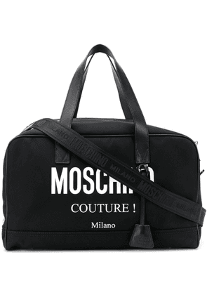 Moschino logo holdall bag - Black
