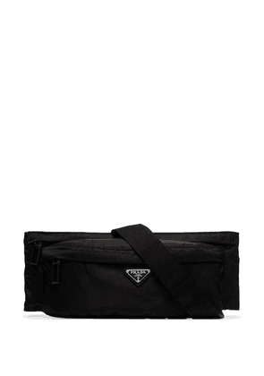 Prada logo plaque crossbody bag - Black