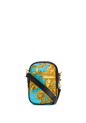 Versace barocco print shoulder bag - Blue