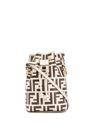 Fendi mon tresor mini bucket bag - Brown