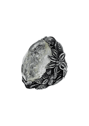 Lyly Erlandsson silver and grey resin Winter ring - Metallic