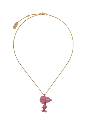 Marc Jacobs Snoopy small pendant necklace - Pink