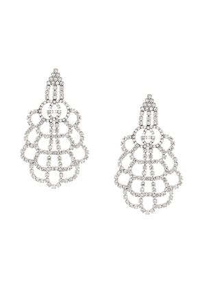 Gucci GG crystal drop earrings - Silver