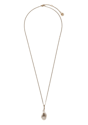 Alexander McQueen mother of pearl pendant necklace - Gold