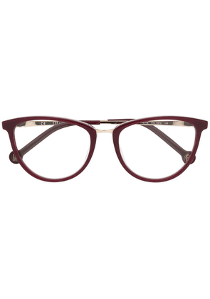 Ch Carolina Herrera cat eye frame glasses - Red