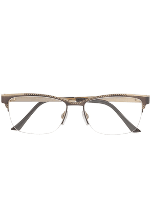 Cazal rectangular frame glasses - Grey