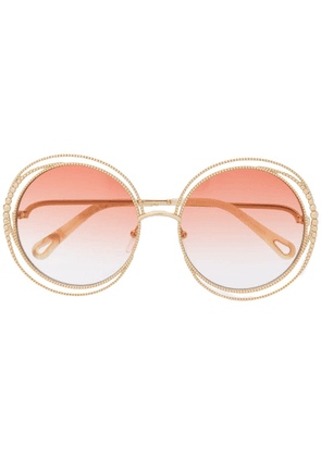 Chloé Eyewear oversized frame sunglasses - Gold
