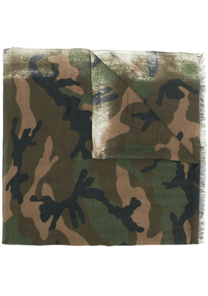Valentino camouflage branded scarf - Green