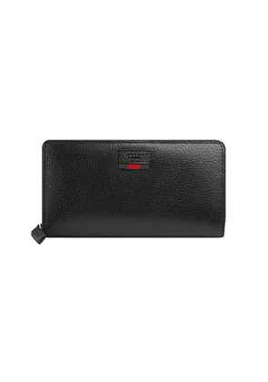 Gucci zip around wallet with Web - Black