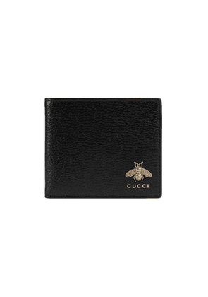 Gucci Animalier Leather Coin Wallet - Black
