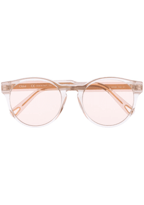 Chloé Eyewear cat eye sunglasses - White