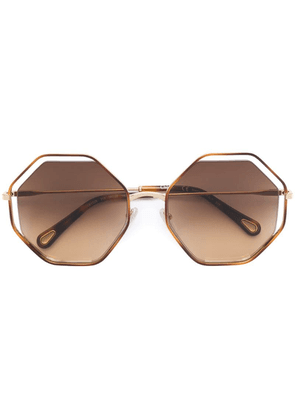 Chloé Eyewear octagonal frame sunglasses - Brown
