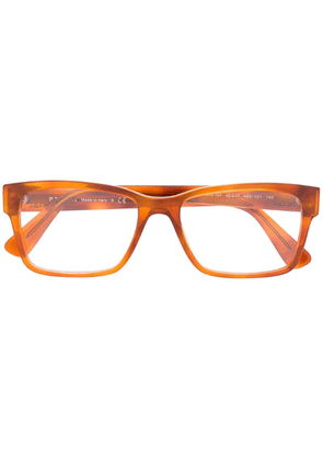 Prada Eyewear rectangle glasses - Orange