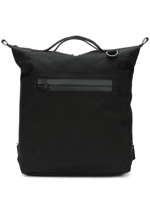 Ally Capellino top handle zip pocket backpack - Black
