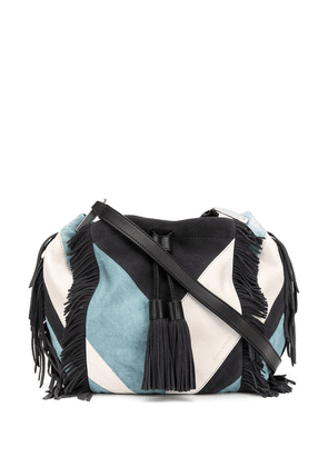 Isabel Marant Jeeba patchwork fringe bag - Blue