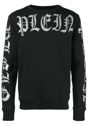 Philipp Plein embellished logo sweatshirt - Black