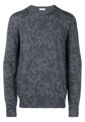 Etro paisley print knitted sweater - Grey