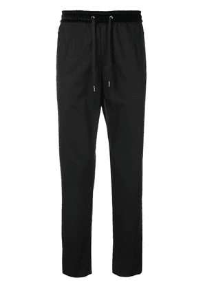 Dolce & Gabbana velvet-panel track pants - Black