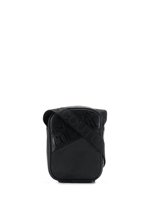 Versace Jeans twill-panelled crossbody bag - Black