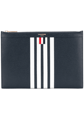 Thom Browne Small Zipper Tablet Holder (29.5x20cm) With Contrast 4-bar