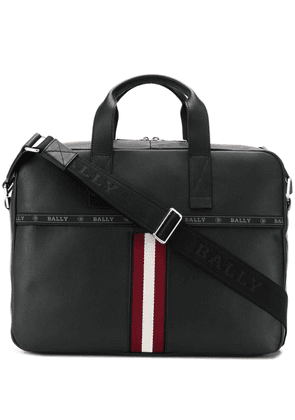 Bally logo stripe briefcase - Black