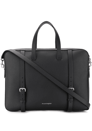 Alexander McQueen buckle detailed briefcase - Black