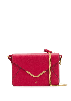 Anya Hindmarch Postbox wallet on chain - Red