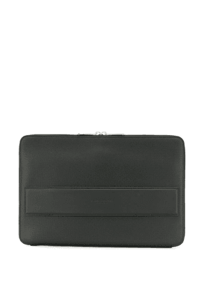 Bottega Veneta textured laptop case - Black