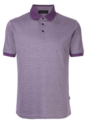 D'urban contrast collar polo shirt - Purple