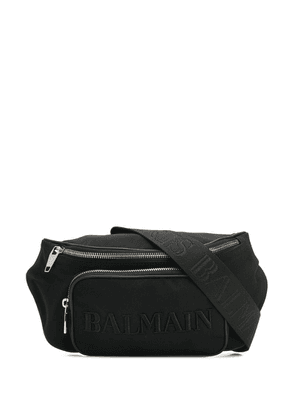 Balmain embroidered logo belt bag - Black