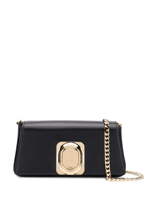 Balmain logo plaque cross-body bag - Black