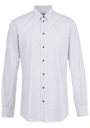 Dolce & Gabbana brand striped printed shirt - White