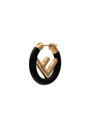 Fendi single logo earring - Black
