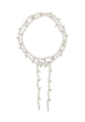 Fallon double layered pearl necklace - White