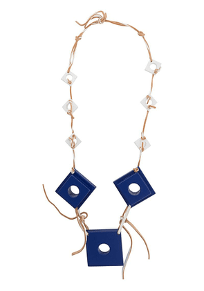 Corto Moltedo square charms necklace - Blue