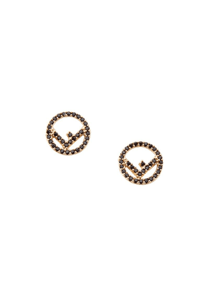 Fendi F is Fendi earrings - Metallic