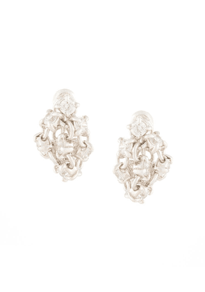 E.M. crystal embellished earrings - Silver