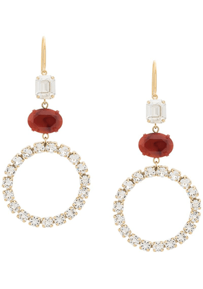 Isabel Marant resin and rhinestone embellished pendant earrings - Gold