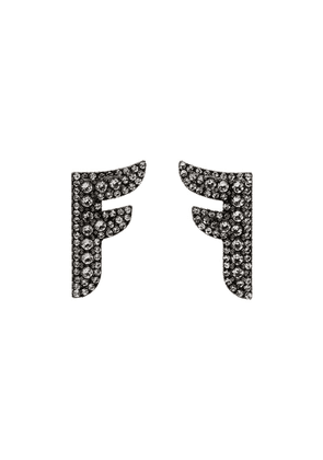 Fendi Flying F logo earrings - Metallic