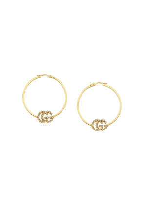Gucci GG Running earrings with diamonds, small - Gold