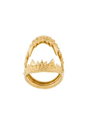 Kasun London vampire biter ring - Metallic