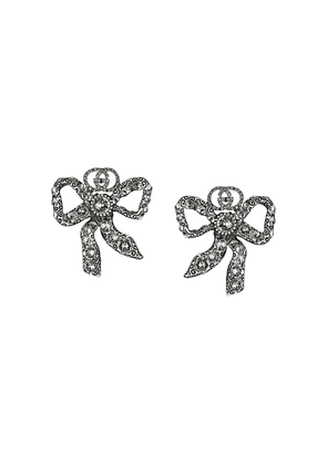 Gucci crystal bow earrings - Metallic